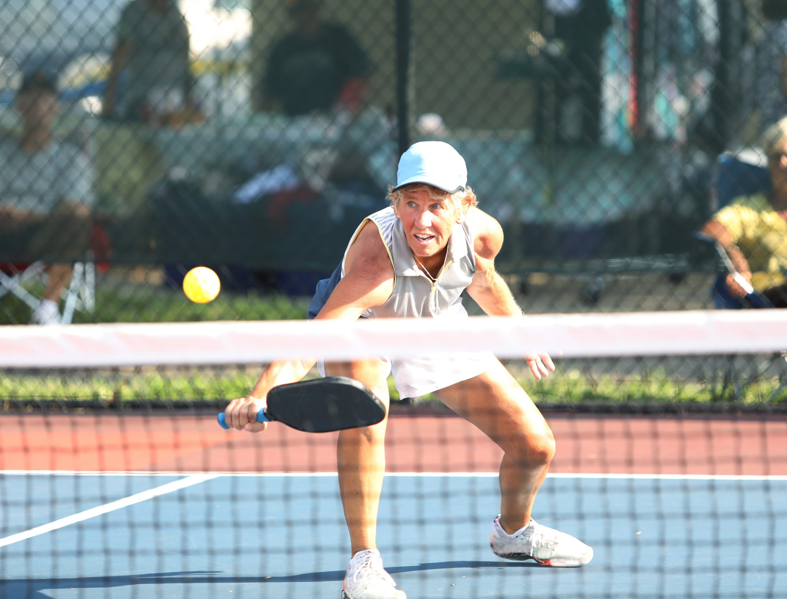 Pickleball action during a senior tournament, Shutterstock